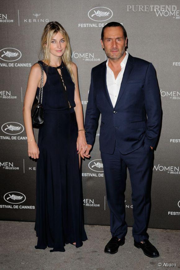 """Gilles Lellouche et Alizée Guinochet à la soirée des """"Women in motion"""" ce dimanche 17 mai 2015, à Cannes."""