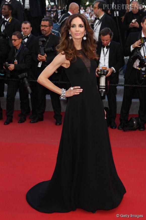 Le mannequin espagnol Eugenia Silva arborait une robe Dior et bijoux Grisogno pour ce 6eme jour du Festival de Cannes 2015.