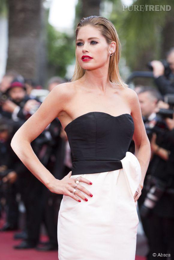 Doutzen Kroes, drama queen dans son bustier Dior au Festival de Cannes.