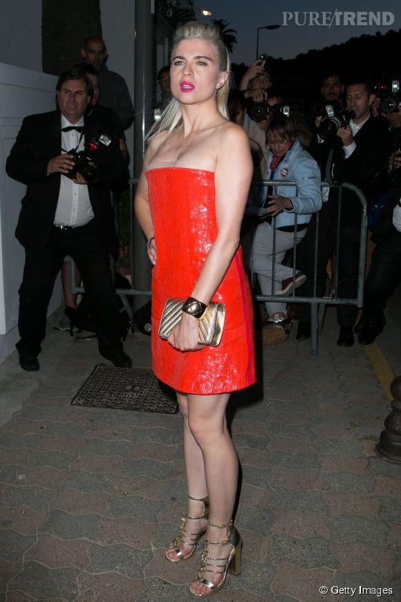 Cécile Cassel alias HollySiz au dîner Chanel, ce mercredi 20 mai 2015.