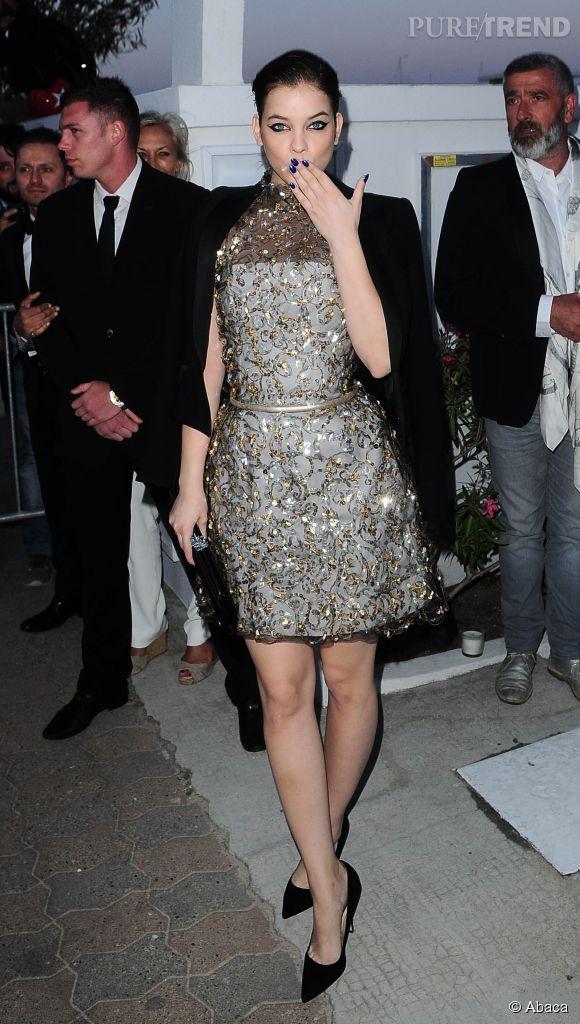 Barbara Palvin au dîner Chanel, ce mercredi 20 mai 2015.