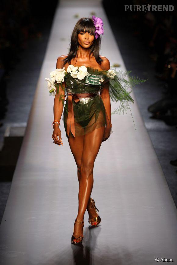 La fleur du défilé Jean Paul Gaultier Haute Couture printemps-été 2015, c'était elle.