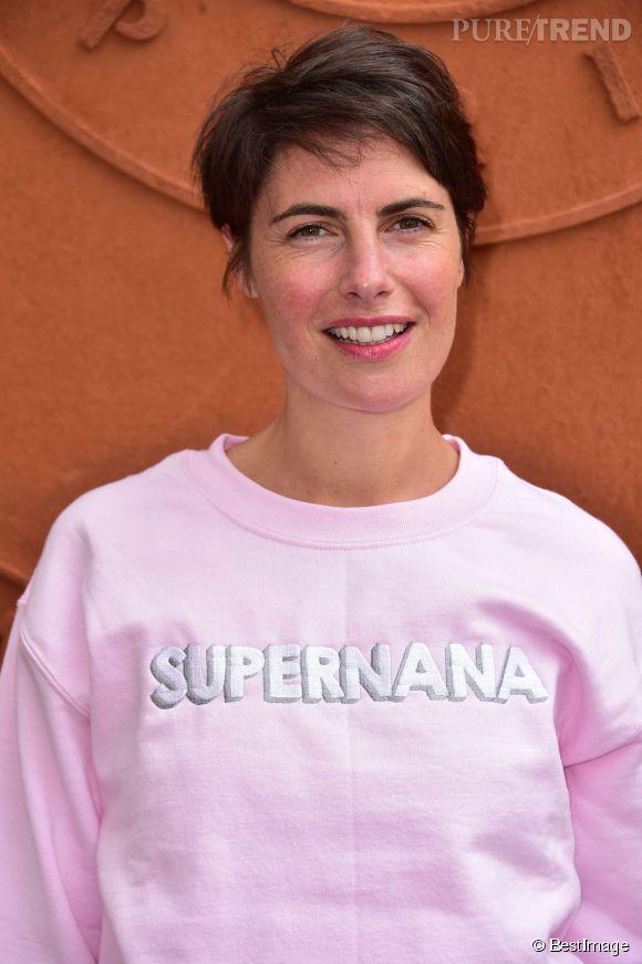 Alessandra Sublet, une super nana à Roland Garros, le 26 mai 2015.
