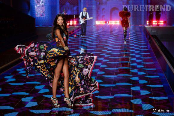 Lais Ribeiro lors du défilé Victoria's Secret 2014.