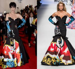 Katy Perry vs Gigi Hadid : la robe bustier graffiti Moschino