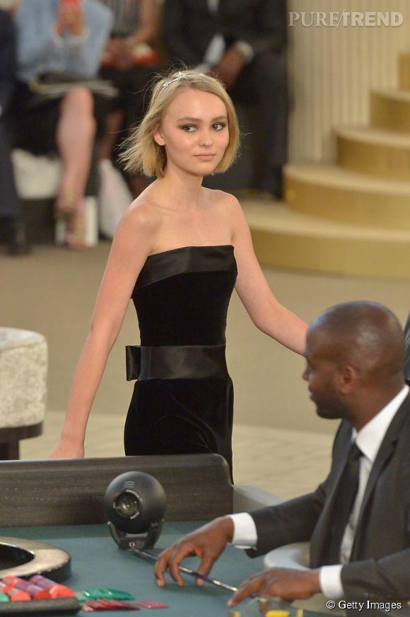 Lily-Rose Depp, star du défilé Haute Couture Chanel.