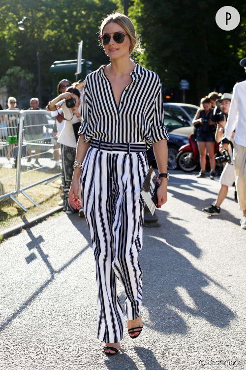 Olivia Palermo au défilé Giambattista Valli à Paris le 5 juillet 2015.