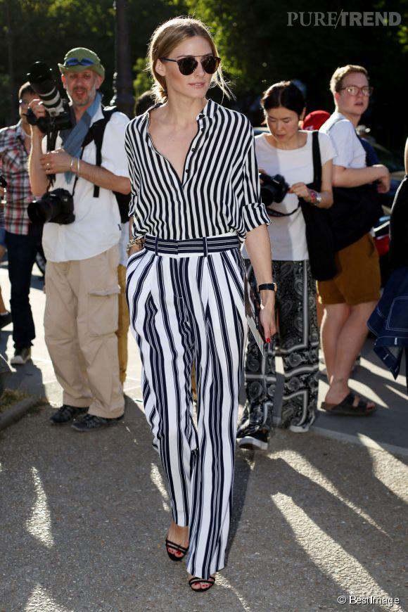 Olivia Palermo et son allure à tomber au défilé Giambattista Valli à Paris le 5 juillet 2015.