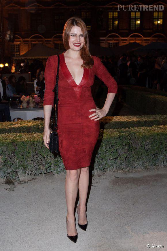 Elodie Frégé lors de la soirée d'inauguration de la nouvelle boutique Tory Burch à Paris le 7 juillet 2015.