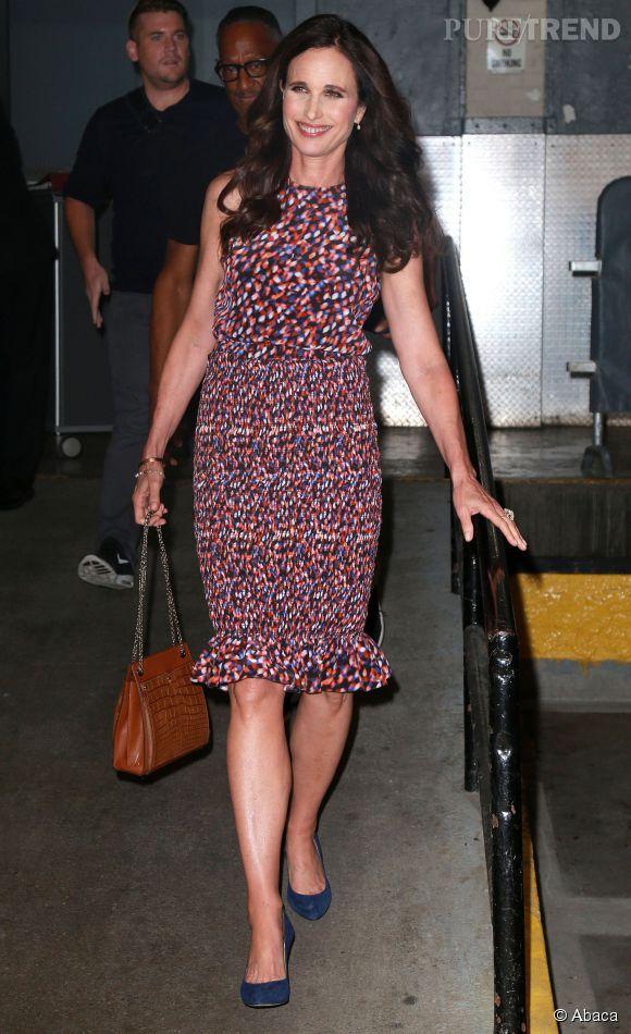Andie MacDowell, glamour dans son joli look estival.