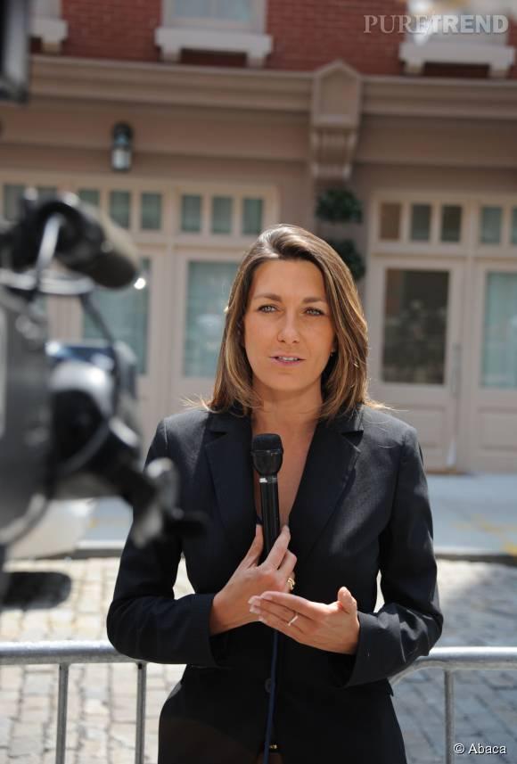 Anne-Claire Coudray, présentatrice du JT de  TF1.