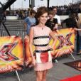 Cheryl mise sur Valentino avec une robe en cuir inspiration 50's Valentino.