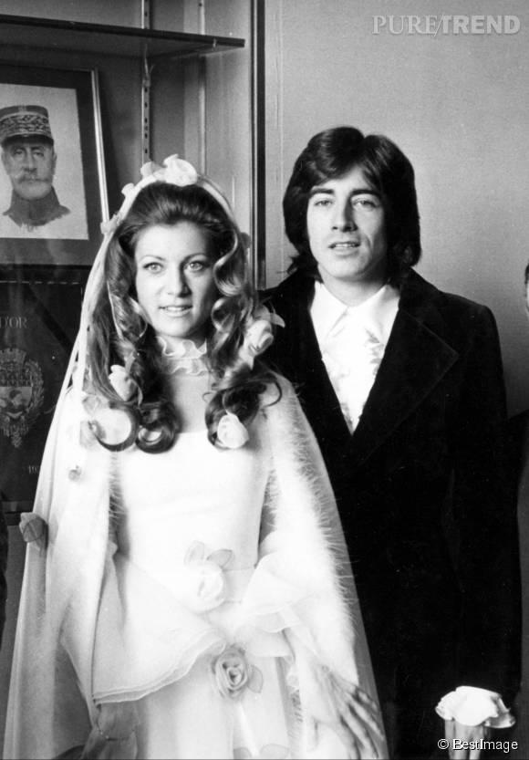 Sheila et Ringo, le jour de leur mariage, le 13 février 1973.