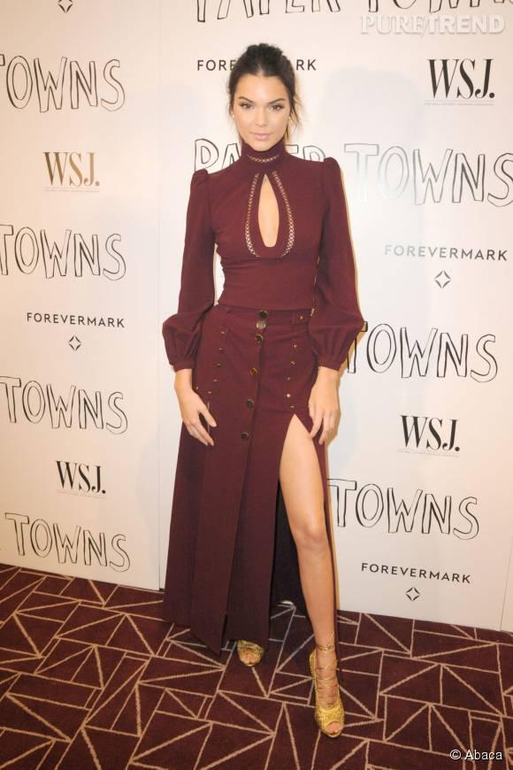 Kendall Jenner était sublime dans cette robe longue.