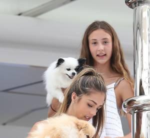 Sistine et Sophia Stallone présentent leurs boules de poils.