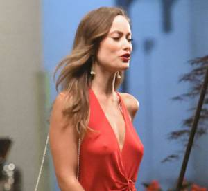 Olivia Wilde en robe fendue et sans soutien-gorge, l'actrice montre tout !