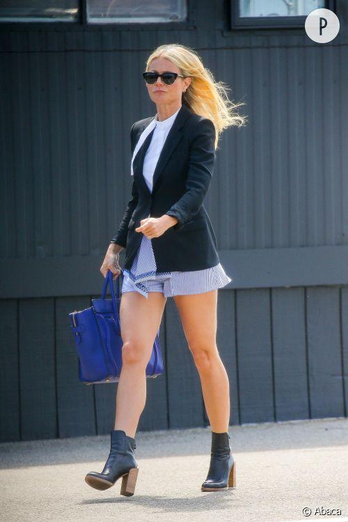 Gwyneth Paltrow, le combo short d'été et blazer à shopper !