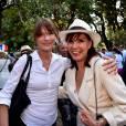 Carla Bruni et Denise Fabre, ce dimanche 19 juillet 2015 à Nice.