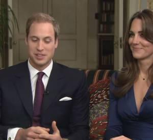 Kate et William, le jour de l'annonce de leurs fiançailles.
