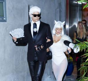 Karl Lagerfeld et Choupette, aka Josh Duhamel et Fergie.