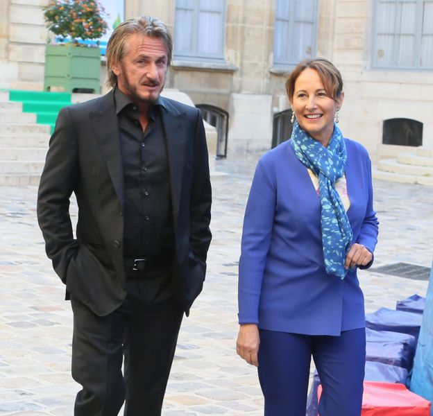 Sean Penn et Ségolène Royal ont discuté environnement.