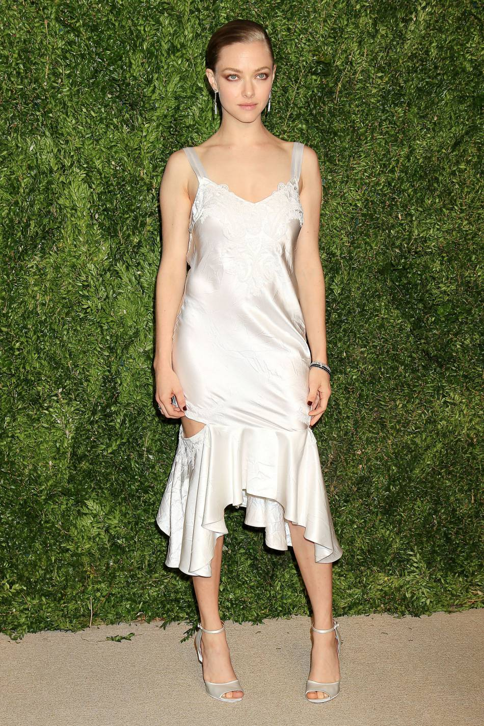Amanda Seyfried à la soirée CFDA/Vogue Fashion Fund Awards de ce lundi 2 novembre 2015.