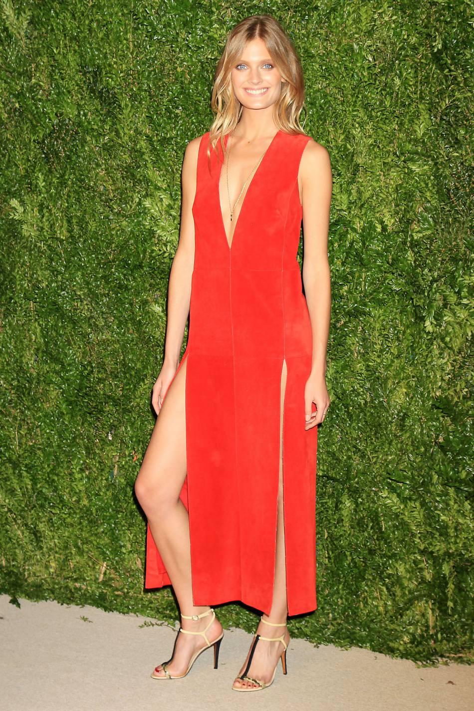 Constance Jablonski à la soirée CFDA/Vogue Fashion Fund Awards de ce lundi 2 novembre 2015.