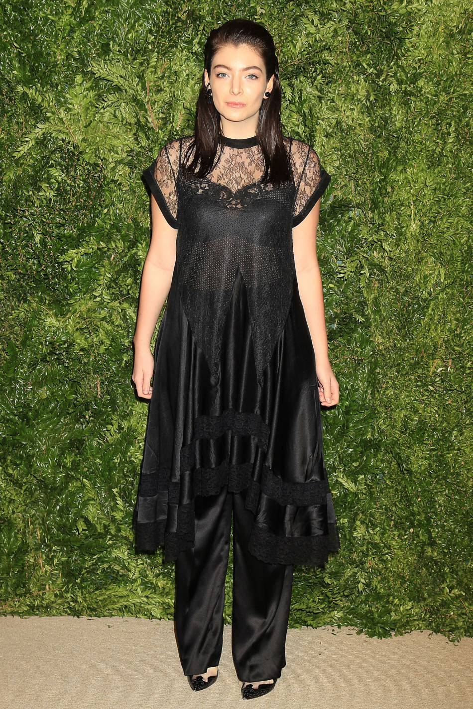 Lorde à la soirée CFDA/Vogue Fashion Fund Awards de ce lundi 2 novembre 2015.