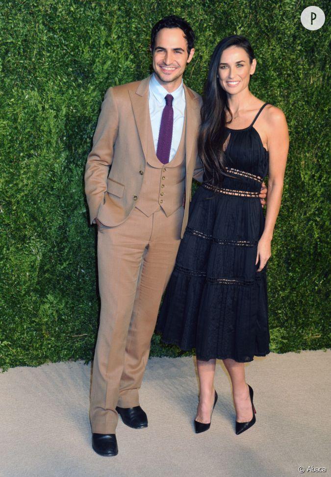 Demi Moore et le créateur Zac Posen à la soirée CFDA/Vogue ...