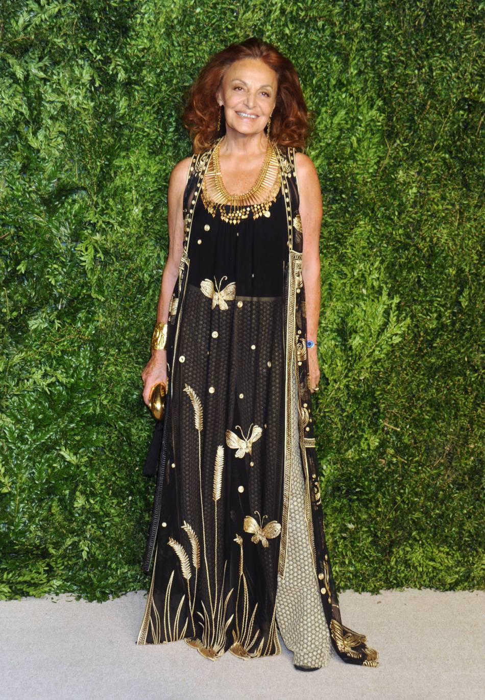 Diane von Furstenberg à la soirée CFDA/Vogue Fashion Fund Awards de ce lundi 2 novembre 2015.