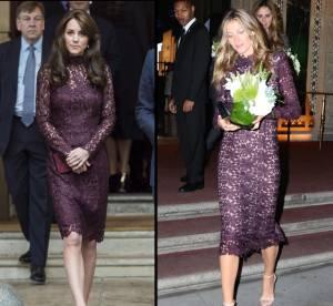 Kate Middleton vs Gisele Bündchen : moulées en robes en dentelle violine