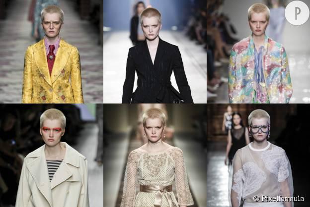 Ruth Bell défile pour Gucci, Versace, Bluemarine, Max Mara, Etro et Emilio Pucci.