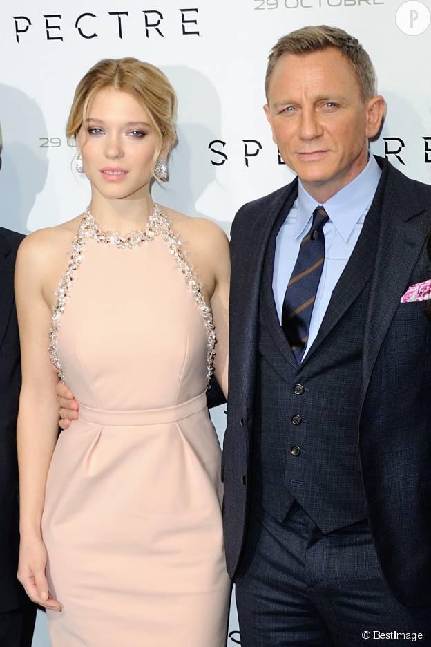 """Daniel Craig et Lea Seydoux : ils partagent l'affiche de """"Spectre""""."""