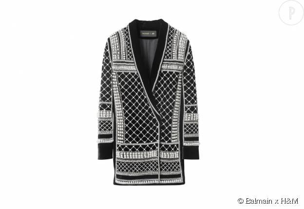 Veste de blazer Balmain x H&M, 399€.