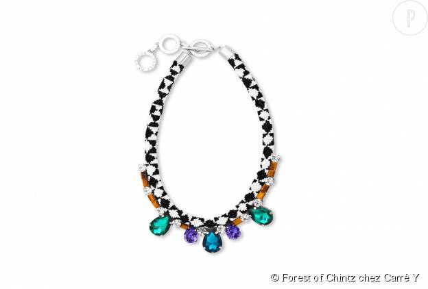 Collier en perles Forest of Chintz chez Carré Y sur Precouture.com, cristaux et métal, 289€.