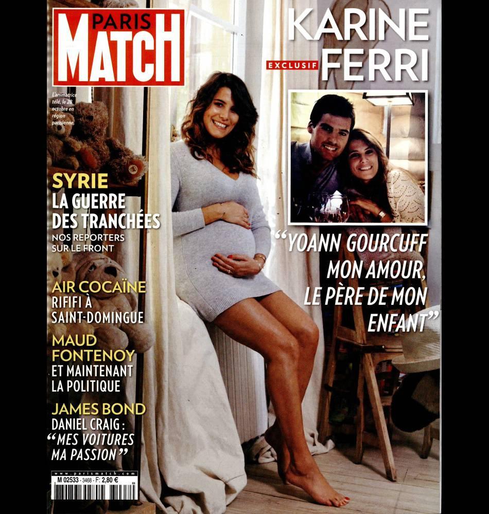 Karine Ferri affiche son grand bonheur en couverture du magazine Paris Match  de cette semaine.