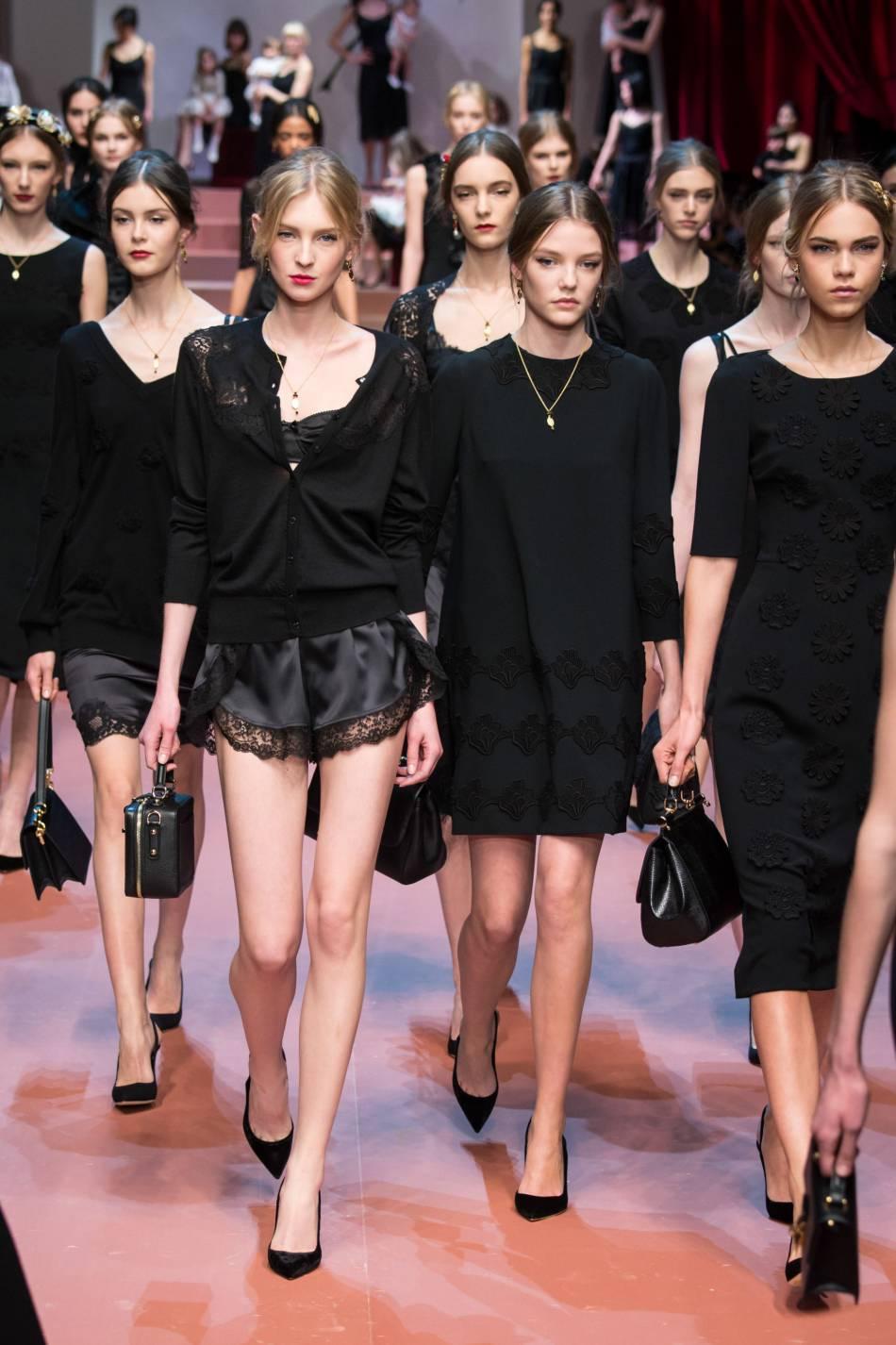 Défilé Automne-Hiver 2015/2016 Dolce & Gabbana.