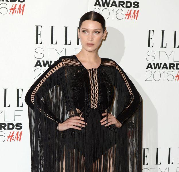 Bella Hadid en Julien Macdonald aux ELLE Style Awards à Londres le 23 février 2016.