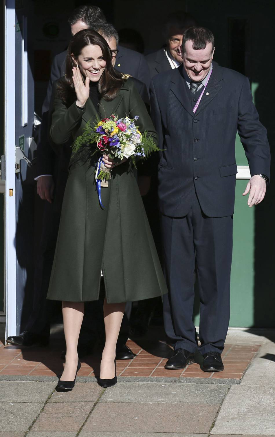 Kate recycle son manteau Max Mara.