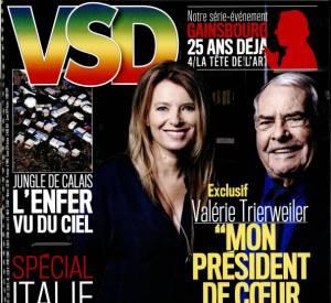 Valérie Trierweiler en une du dernier numéro du magazine VSD.