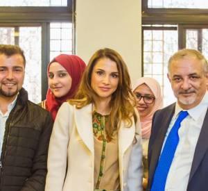 La reine Rania s'est rendue à l'université Hashemite de Raqa la semaine dernière.