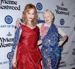 Vivienne Westwood aux côtés de l'actrice Christina Hendricks.