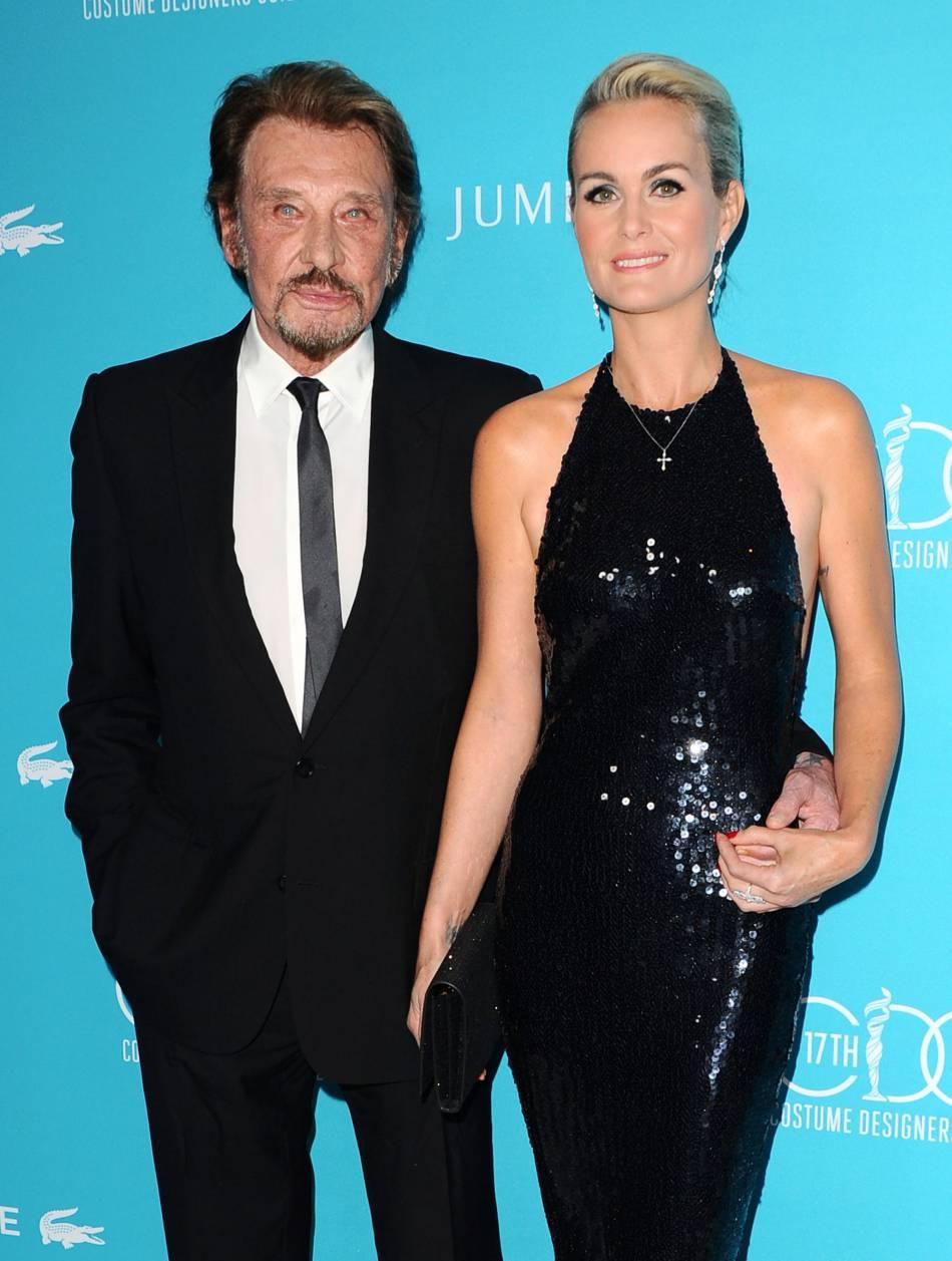 Laeticia et Johnny Hallyday, couple glamour.