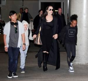 Angelina Jolie : livide et tout en noir, elle sort seule avec ses enfants