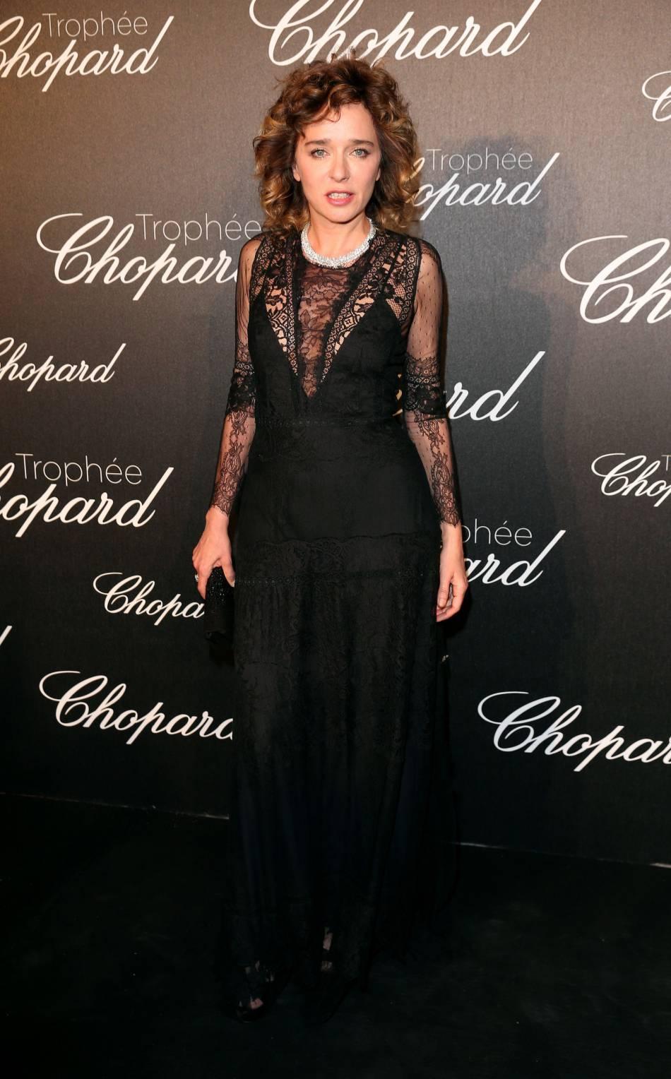 Valeria Golino lors de la cérémonie du Tropée Chopard organisée le 12 mai 2016 à Cannes.