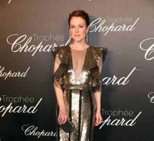 Julianne Moore lors de la cérémonie du Tropée Chopard organisée le 12 mai 2016 à Cannes.