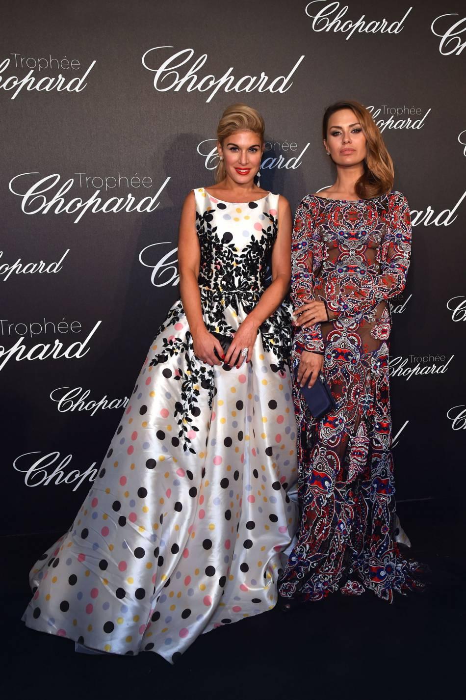 Hofit Golan et Victoria Bonya lors de la cérémonie du Trophée Chopard organisé le 12 mai 2016 à Cannes.