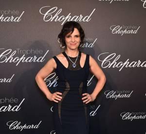 Juliette Binoche lors de la cérémonie du Trophée Chopard organisé le 12 mai 2016 à Cannes.