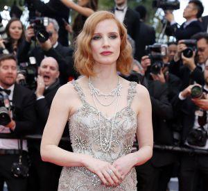 Jessica Chastain en Alexander McQueen est plus princesse que jamais sur le tapis rouge.