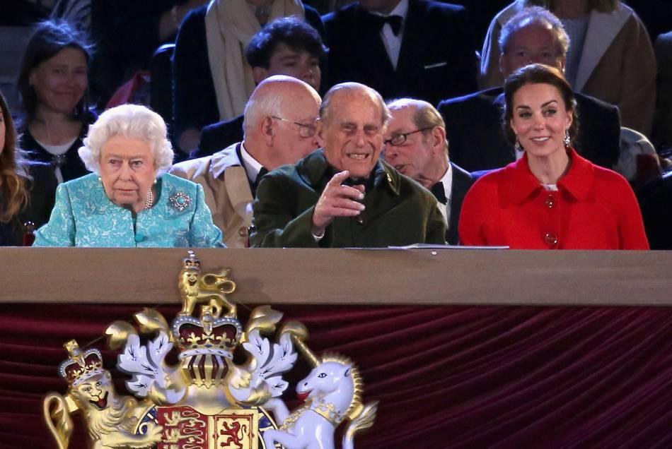 Kate Middleton a répondu présent pour le spectacle organisé en l'honneur de l'anniversaire d'Elizabeth II.